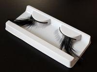 Extra Long Black Feather False Eyelashes Fake Eye Lashes At Side Fancy Dress Ball Halloween Show Makeup 10 Pairs F042