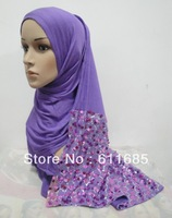 S353 high quality cotton scarf with sequins,fast delivery