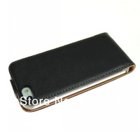 Free shipping (50 pieces/lot) Genuine Leather Case for Apple iPhone 5 5G