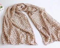 2012 autumn and winter cartoon cat scarf silk scarf long silk scarf muffler scarf female