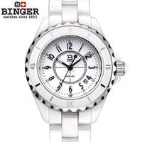 Accusative binger ceramic watch aqua space lady fashion flour h2423