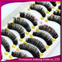 Handmade cotton false eyelashes natural 030 turbidness lips lengthen