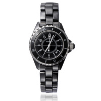 Warren fashion quartz watch black ceramic watch ladies watch women's watch dial gauge