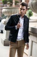 Hot! Top Quality Man Locomotive Leather, Popular Man Leather Jacket Coat M L XL XXL XXXL 4 XL