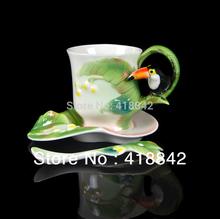 Brightly Striped Vivid Super Tucano Ceramic Coffee Set 1Cup 1Saucer 1Spoon