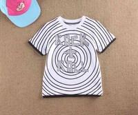 2013 summer female male child 100% cotton short-sleeve T-shirt
