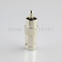 Free shipping-10pcs CCTV  Connector  Plug RCA Male to BNC Female Jack Video Adapter/bnc Connector