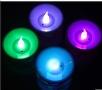 Free shipping Colorful led candle lamp electronic candle lights smokeless candle birthday candle romantic bundle