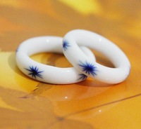 FREE SHIPPING!!!!!! Ceramic jewelry wholesale, ceramic ring JZ 0005