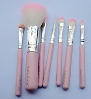 Makeup BrushHello Kitty 7 pcs makeup brushes professional a cosmetic brush sets makeup tools suit free shipping