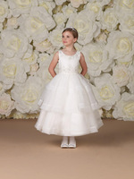 2013 Summer Applique Off-shoulder White A-line Flower girl dresses Children dresses Little girl's pageant dress