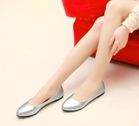Free shipping new arrival shoes for women, lady's plus size fashion dress  flat shoes XLU2605