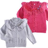Child 100% cotton cardigan female child sweater cardigan children