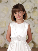 Wonderful High collar Little girl's pageant dress White Stain Flower girl dresses Children dresses Little girl's pageant dress
