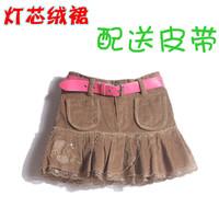 Autumn corduroy female child bust skirt child skirt