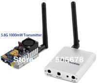 FPV 5.8GHz 1000mW Video Transmitter Receiver RX TX 5.8 Ghz 1W 5.8G 1 Watt