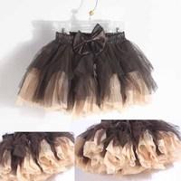 Children's clothing spring child gentlewomen tulle female bust skirt