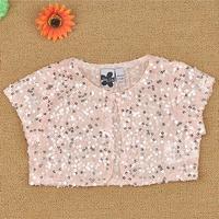 Children's clothing summer child shallow pink paillette cape female child cape