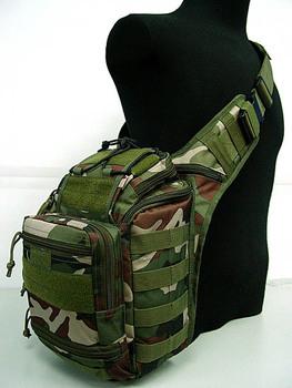 free ship Multi Purpose Molle Gear Shoulder Bag Camo Woodland