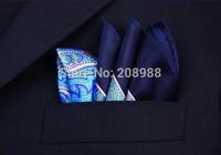 Hot Selling! Fashion Paisley Pocket Square Silk Pocket Squares Chest Towel Handkerchief Hanky SZ03
