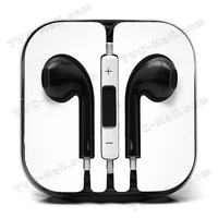 10PCS/Lot 3.5mm Stereo Earphone Headset with Remote & Mic for Apple iPhone 5 free shipping