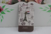 10 pcs Around the turn of leather style Hard Back Cover Case for apple iPhone4/4s