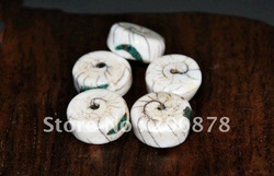 TSB0293 Tibet natural Naga Conch shell oblate beads,16mm,White Tridacna shell charm 15mm(China (Mainland))