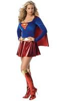 Dropshiping! Hot high quality Women  Halloween customes blue women superman costumes,sexy halloween apparel   HS078