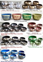 Tibetan Jewelry MW-18 Wholesale Tibet Buddhist Singing Bowl,Nepal White Metal Brass Handicrafts,Healing bowls,mix order