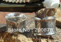 tibetan jewelry  R120  Tibetan Metal Alloy Carved OM MANI PADME HUM Man Open Ring,Ethnic Vintage Mantras Rings,no MOQ