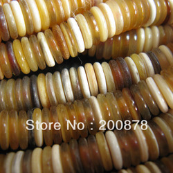 TSB0509 Tibet natural Ox Horn Small Coin Loose Beads,6X3mm,100beads lot(China (Mainland))