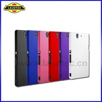 Hybrid Hard Case for Sony Xperia Z L36H, 500pcs/lot Rubberized Hybrid Skin Back Case Cover Laudtec, Free Shipping