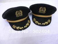 Woolen navy cap,spring woolen sailor cap ,black Military Hats