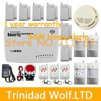 High Quality 99 Zones Wireless Home Intelligent Burglar GSM Alarm System 850/900/1800/1900MHz