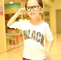 2013 new children's clothing bottoming shirt letters         Free Shipping