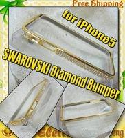 SWAROVSKI Diamond Aluminium Bumper case for iphone 5 100pcs/lot DHL Free shipping