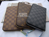 free shopping 2013 fashion wallet male classic men's plaid long design wallet card holder wallet clutch