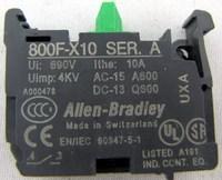 Allen-Bradley  800F-X10  SER. A