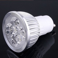 400LM High Power Led Spot Light Lamp 85-265V / GU10 4W 4x1w Energy Saving Warm&Cool White Lighting Bulb 110V 220V