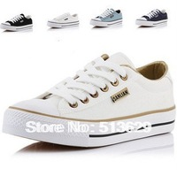 Free Shipping 4 Colors Women Fashion low Style Canvas Shoes Laced Up Casual Breathable Sneakers Wtih Box  CS-001