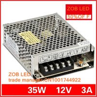 35W/40W 3A LED Switching Power Supply,85-265AC input,Output power suply 12V OUTPUT  in stocks