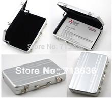 Free shipping Password Aluminium Credit Card Holder Mini Business Card Case(Chin