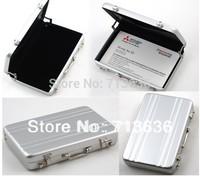 Free shipping Password Aluminium Credit Card Holder Mini Business Card Case
