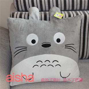 Totoro pillow square pillow plush toy doll lumbar pillow sofa cushion birthday gift