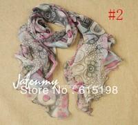 2013 hot selliing silk scarf silk printed Scarves Wraps  kerchief  scarf  agaric small silk long scarf 5 colors waist 003