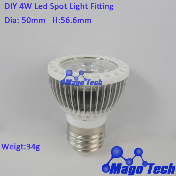 DHL/FEDEX /EMS Free shipping- DIY 5W LED Spot Light housing with extrusion aluminium profile heatsink, aluminum PCB base(China (Mainland))
