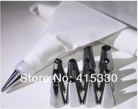 14PCS Stainless Steel Cake Decorator Cream Presser Cotton Icing Piping Bag Set