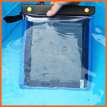 Free shipping Tablet PC Waterproof Bag Swimming Pool Beach Diving Case Bag Pouch 30*21cm Drift diving 20 meters depth waterproof