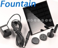 7v solar water pump mini fountain water fountain 3 nozzle unisex packaging