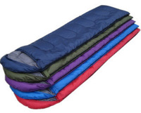 0.8KG outdoor envelope hooded sleeping bag patchwork cotton lovers spring and summer three season sleeping bag